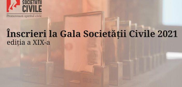 Încep înscrierile la Gala Societății Civile 2021