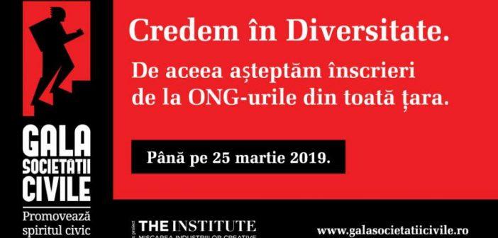 Luni, 25 martie, ora 23:59, este termenul limită până la care pot fi înscrise proiecte la Gala Societății Civile 2019